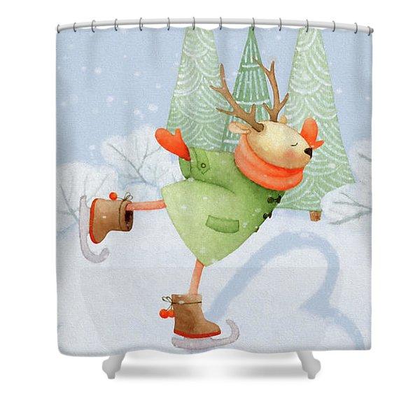 With All My Heart - Christmas Art Shower Curtain