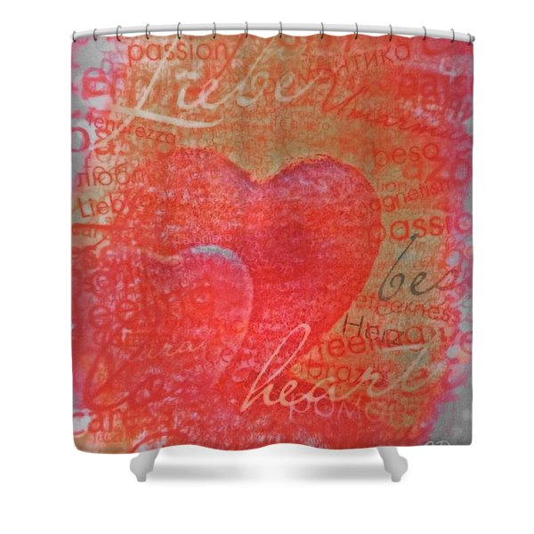 With Heart Shower Curtain