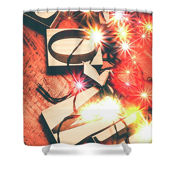 With Love And Lights Shower Curtain