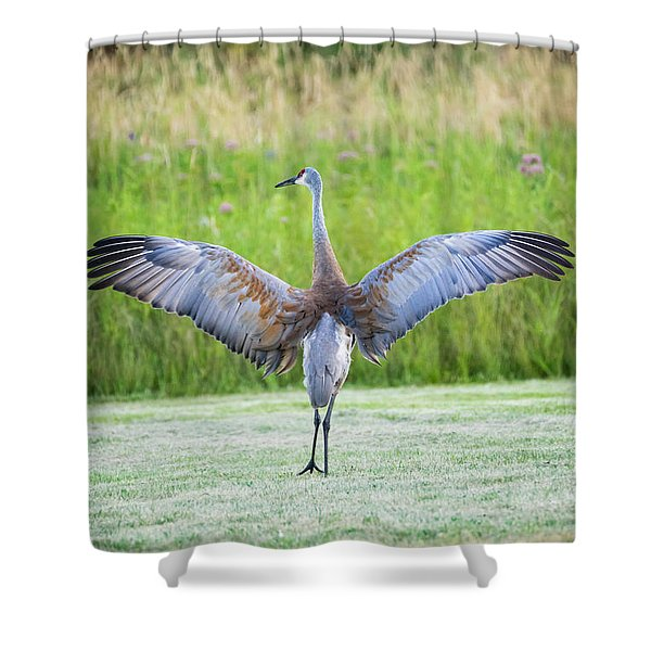 With Open Arms Shower Curtain