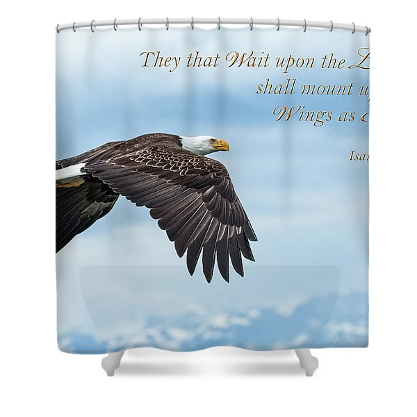 With Wings As Eagles Shower Curtain