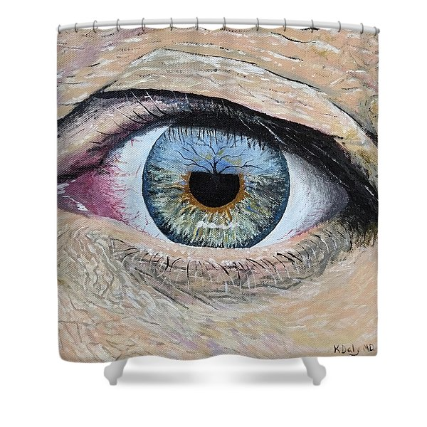 Shower Curtain featuring the painting Witness by Kevin Daly