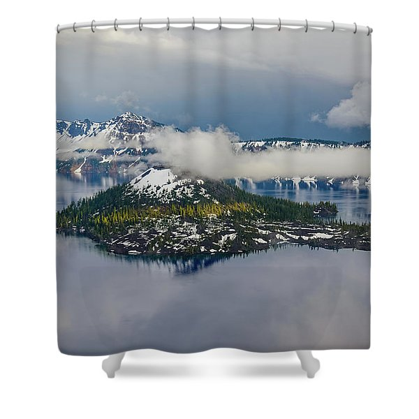 Wizard Island Shower Curtain