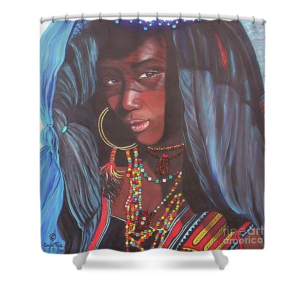 Virtuous Wodaabe Girl          From The Attitude Girls  Shower Curtain