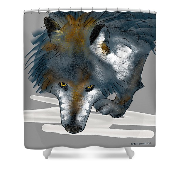 Wolf. Shower Curtain