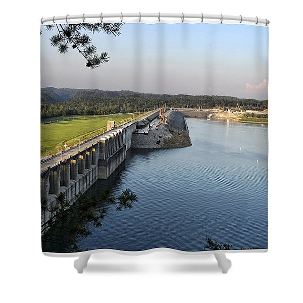 Wolf Creek Dam Shower Curtain