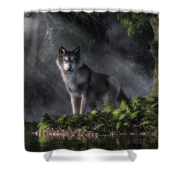 Wolf In The Forest Shower Curtain