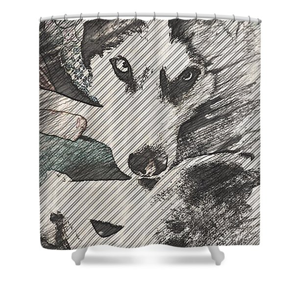 Wolf Is Beautiful Shower Curtain