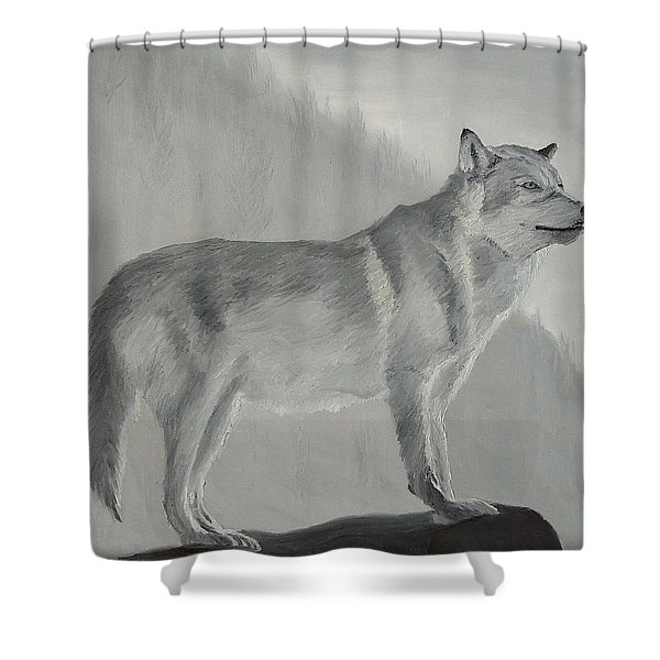 Shower Curtain featuring the painting Vantage Point by Kevin Daly