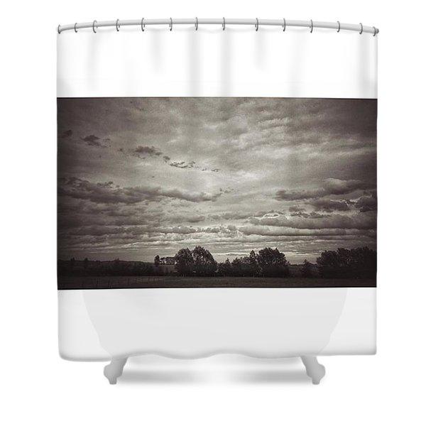 Wolken über Mir  #wolken #cloudscape Shower Curtain