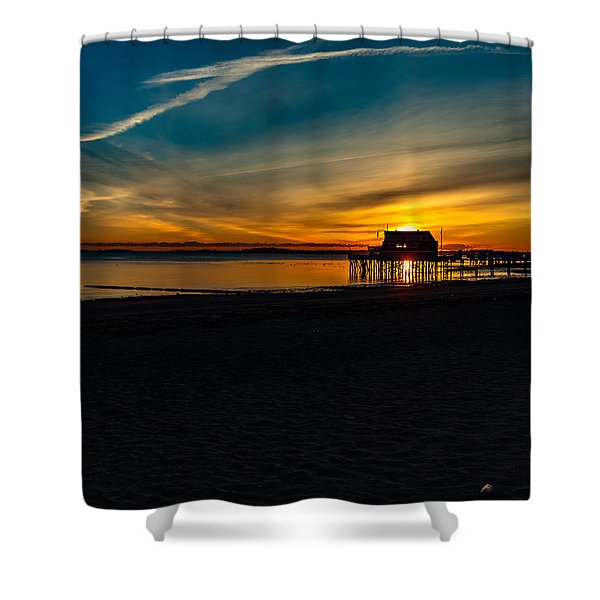 Wollaston Beach Sunrise 3 Shower Curtain