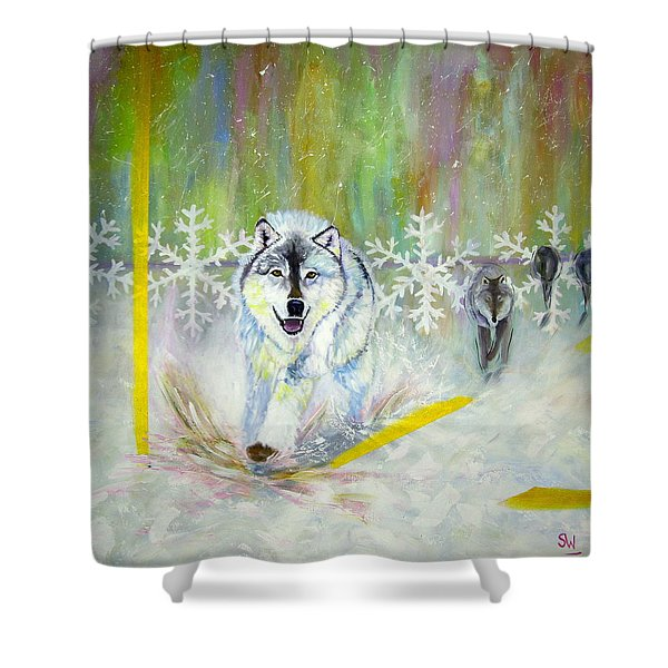Wolves Approach Shower Curtain