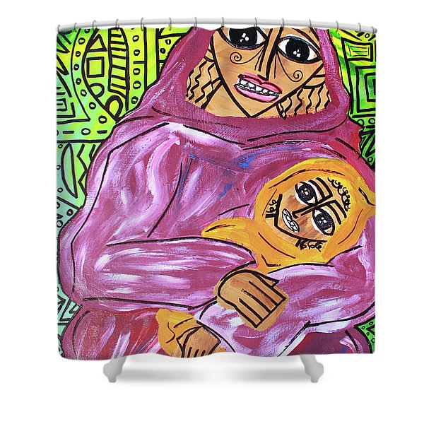 Woman And Child Shower Curtain