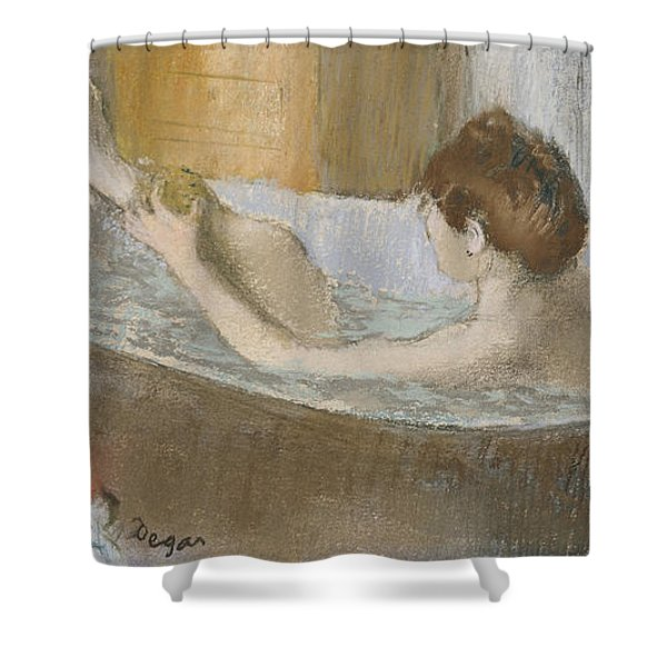 Woman In Her Bath Shower Curtain