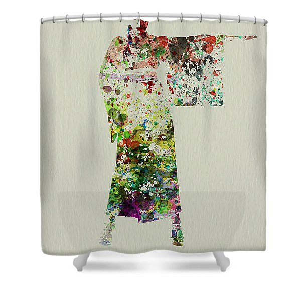 Woman In Kimono Shower Curtain