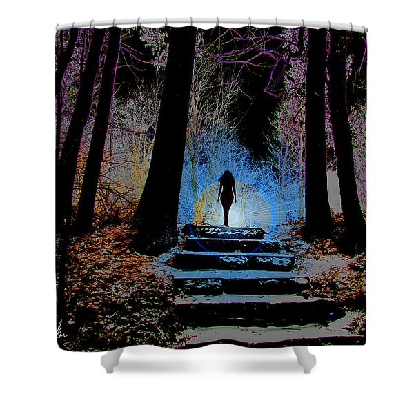 Woman In The Park Shower Curtain