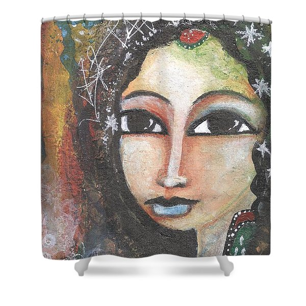 Woman - Indian Shower Curtain