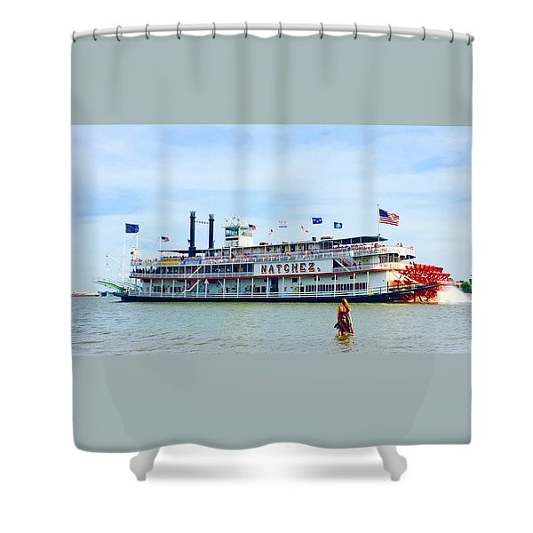 Woman Meets Natchez Shower Curtain