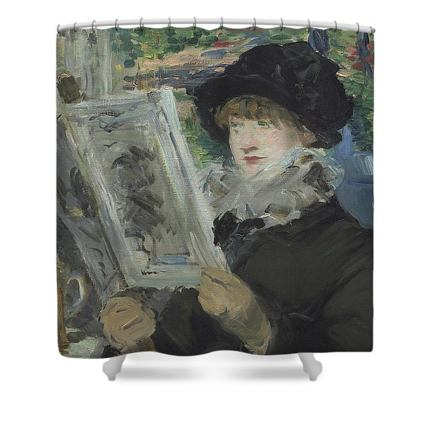 Woman Reading Shower Curtain