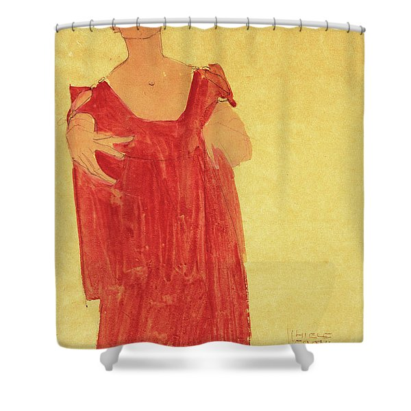 Woman With Blue Hair Shower Curtain