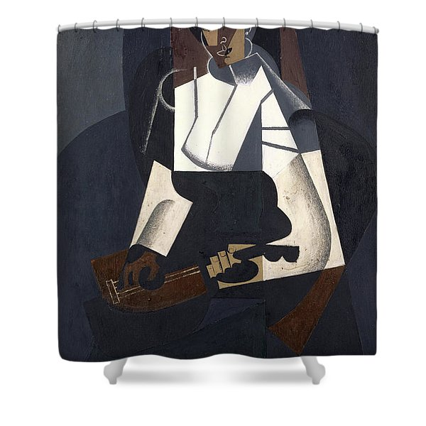 Woman With Mandolin Shower Curtain