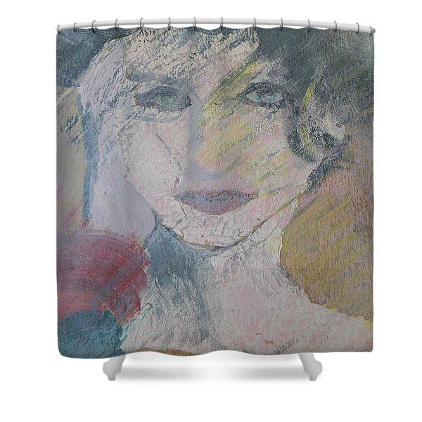 Woman's Portrait - Untitled Shower Curtain
