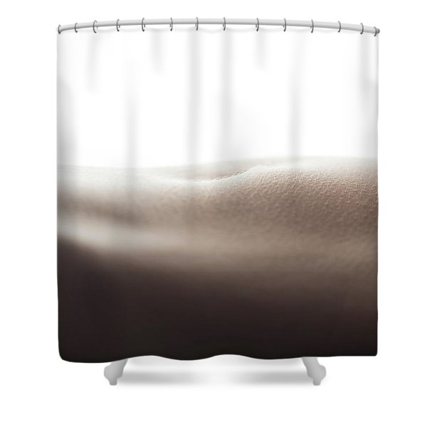 Womans Stomach Shower Curtain