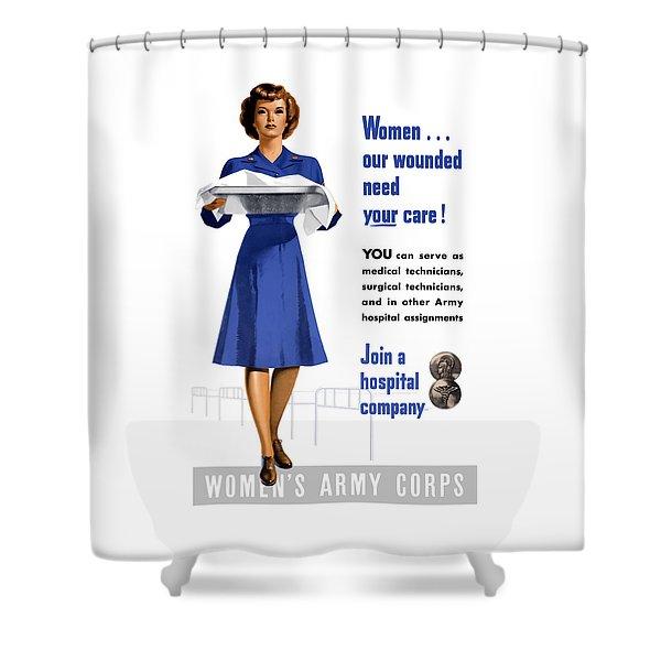 Women's Army Corps - Ww2 Shower Curtain