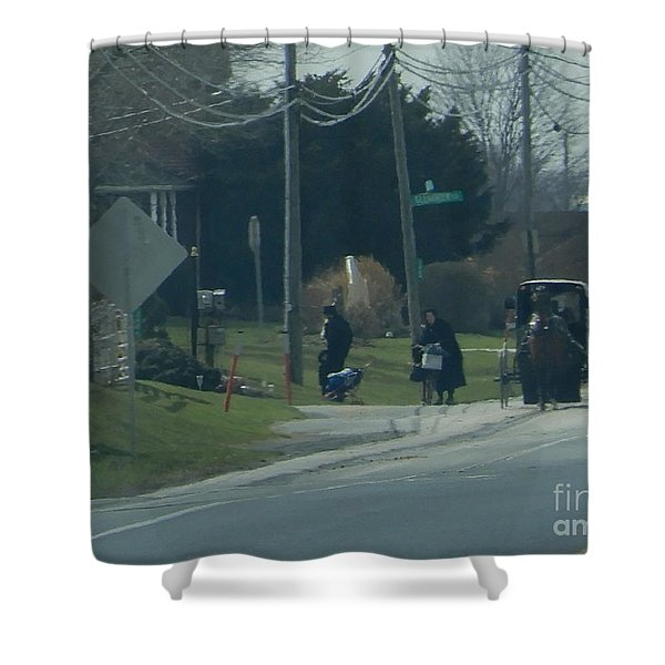 Women's Day Out Shower Curtain
