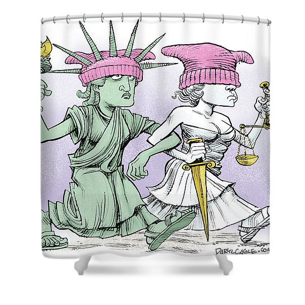 Women's March On Washington Shower Curtain