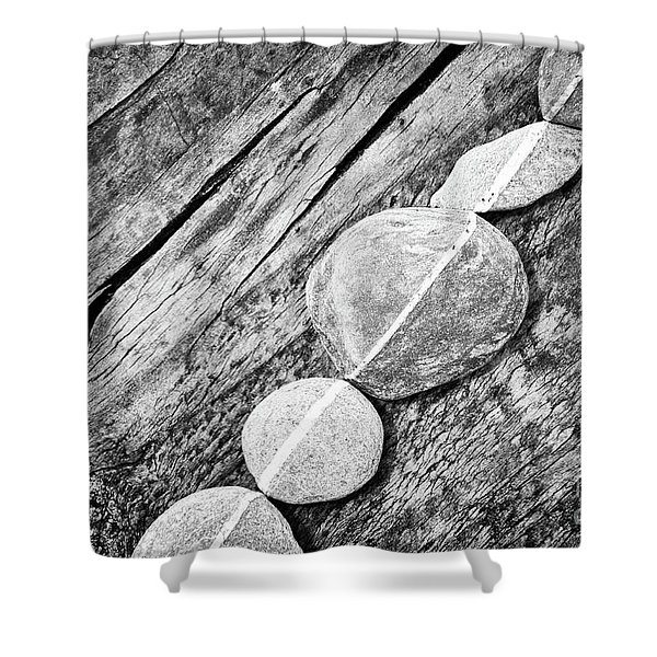 Wood And Stones Shower Curtain