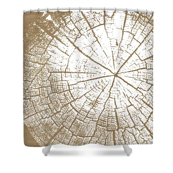 Wood And White- Art By Linda Woods Shower Curtain