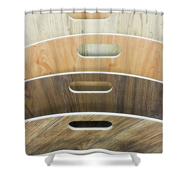 Wood Laminate Shower Curtain