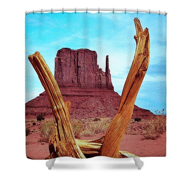 Wood 'n Mitten Shower Curtain