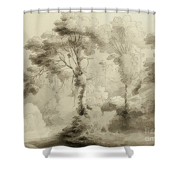 Wooded Landscape Shower Curtain