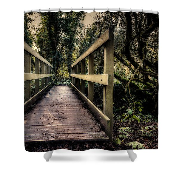 Shower Curtain featuring the photograph Wooden Bridge by Nick Bywater