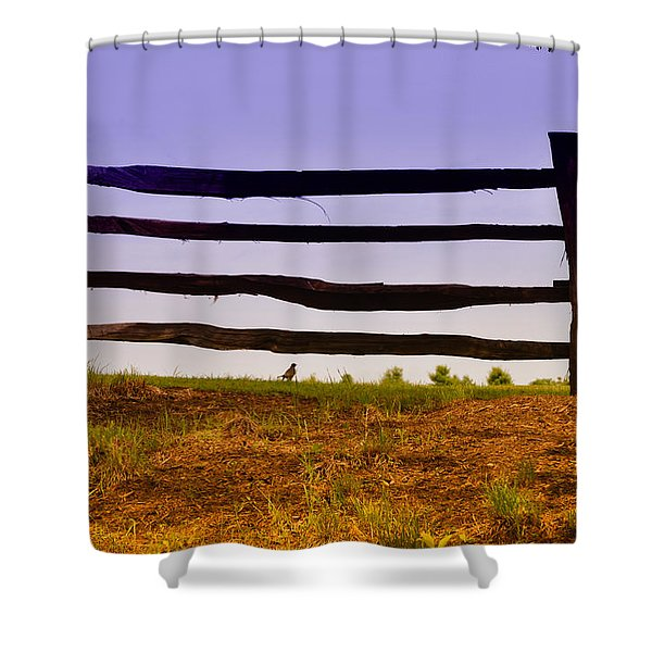 Wooden Fence Shower Curtain