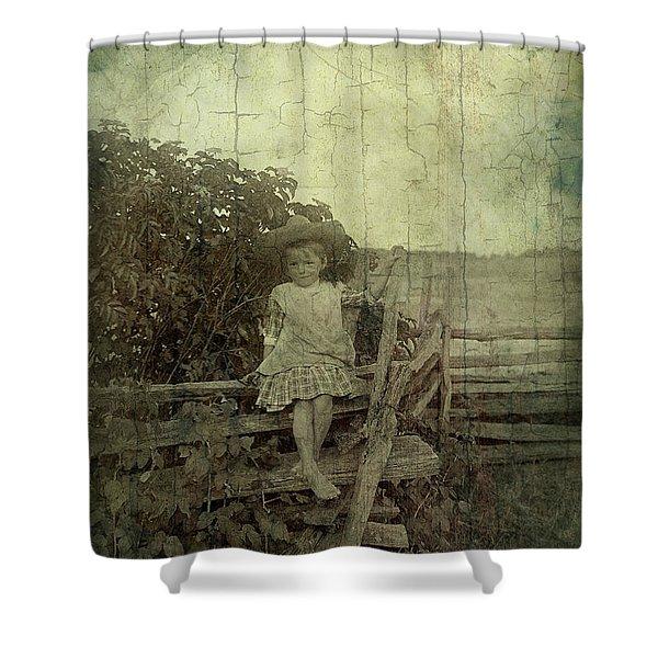 Wooden Throne Shower Curtain