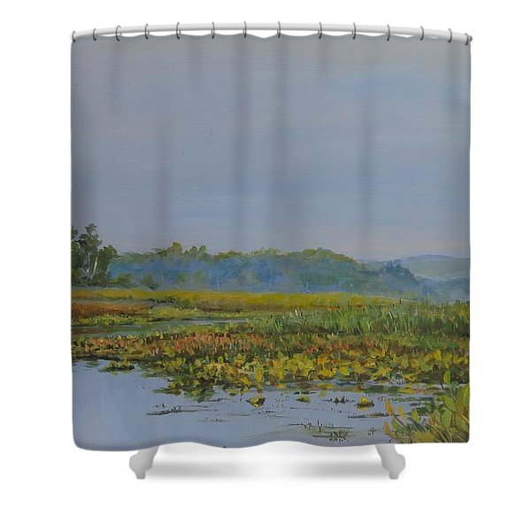 Woodland Lake Shower Curtain