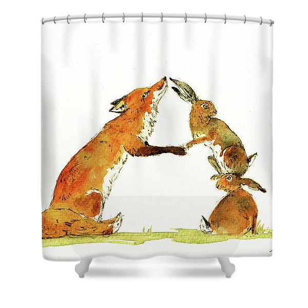Woodland Letter Shower Curtain