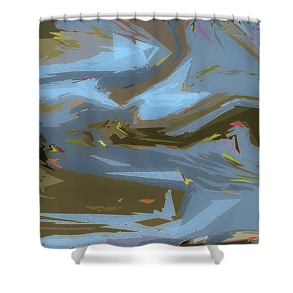 Woodland Stream Shower Curtain