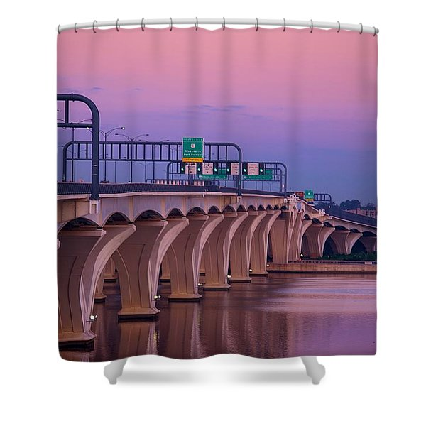 Woodrow Wilson Bridge Shower Curtain