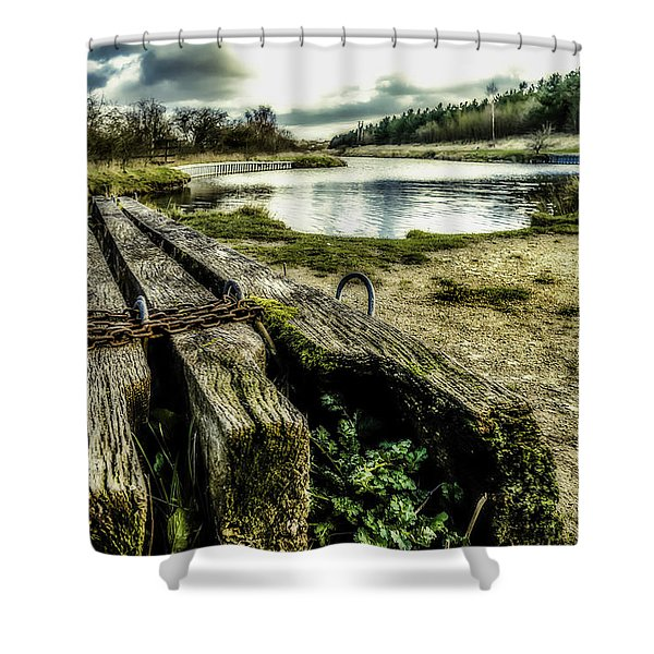 Shower Curtain featuring the photograph Woodside by Nick Bywater