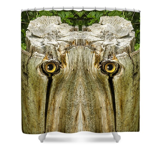 Woody 156 Shower Curtain
