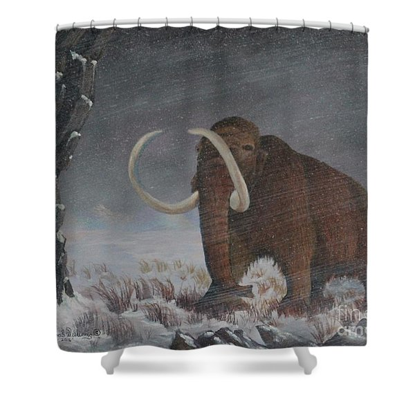 Wooly Mammoth......10,000 Years Ago Shower Curtain