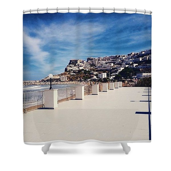 #work #sea #water #peschici #gargano Shower Curtain