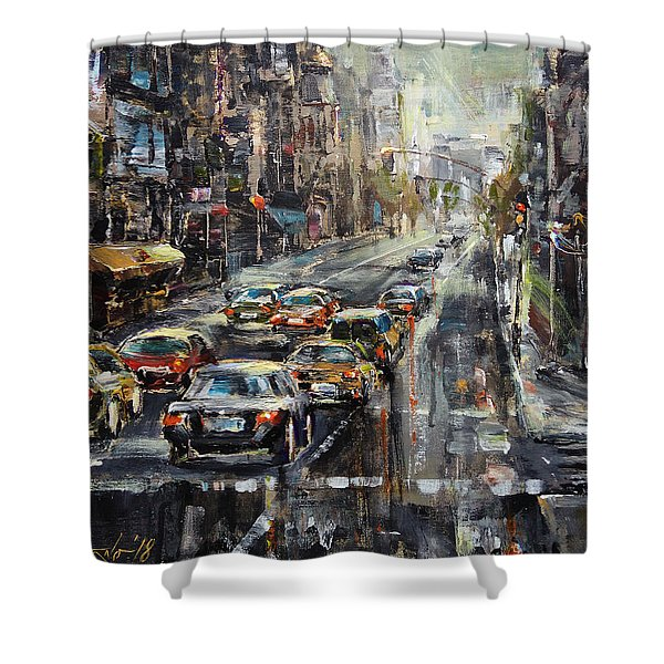 Workday Shower Curtain