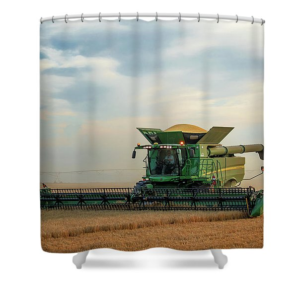 Working Alone Shower Curtain