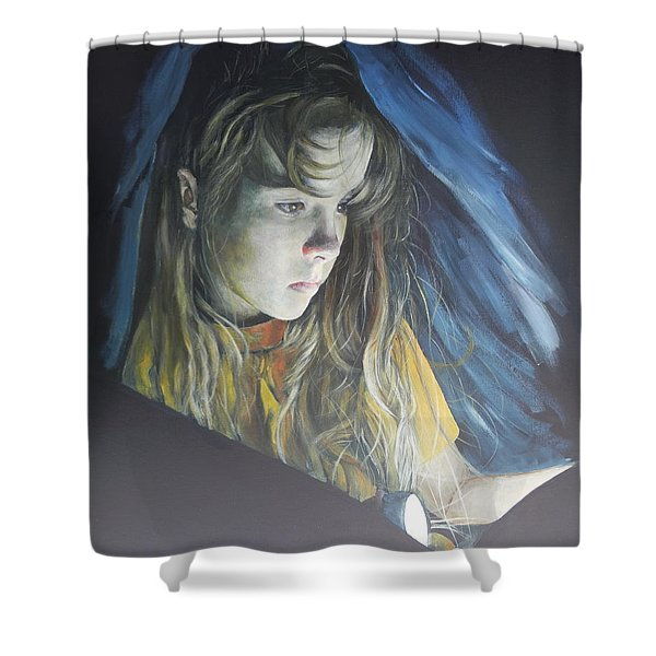 Working Undercover Shower Curtain