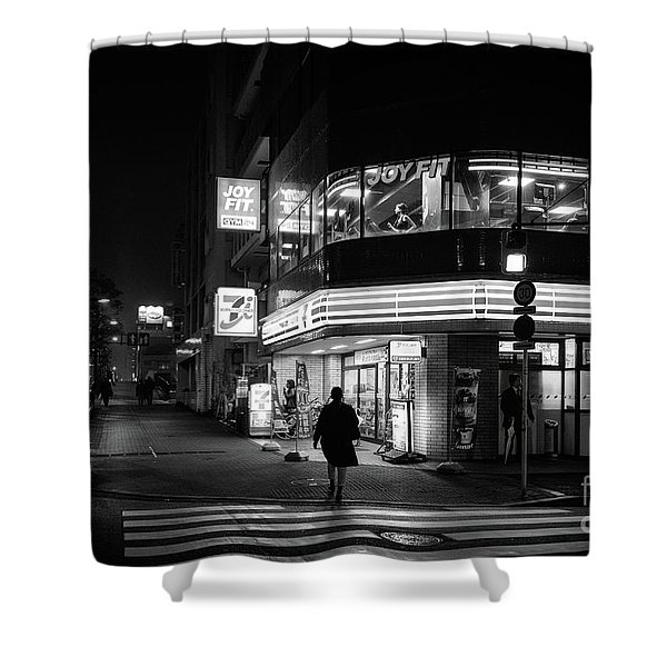 Workout The Night, Tokyo Japan Shower Curtain